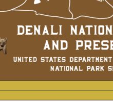 Denali National Park and Preserve Sign, Alaska, USA Sticker