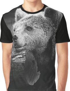 bear, black and white Graphic T-Shirt
