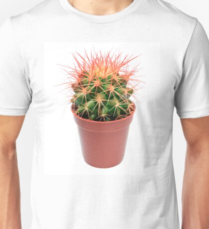 Orange cactus in flowerpot Unisex T-Shirt