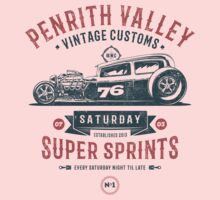 Vintage Customs Super Sprint [Muted Red & Blue] One Piece - Short Sleeve