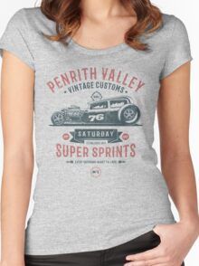 Vintage Customs Super Sprint [Muted Red & Blue] Women's Fitted Scoop T-Shirt