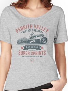 Vintage Customs Super Sprint [Muted Red & Blue] Women's Relaxed Fit T-Shirt