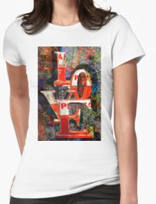 LOVE Happy Valentines day card Womens Fitted T-Shirt