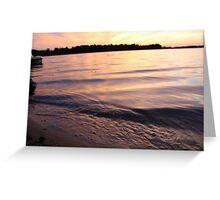 Lake Ripples Greeting Card
