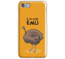 E is for Emu iPhone Case/Skin