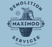 Maximoo Demolition Services [Muted Blue Mono] Baby Tee