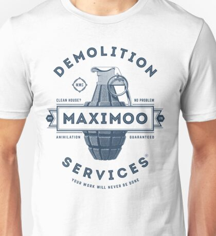 Maximoo Demolition Services [Muted Blue Mono] Unisex T-Shirt