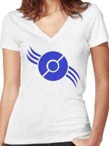 Team Mystic (blue) Women's Fitted V-Neck T-Shirt