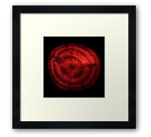 Red beetroot cross-section Framed Print