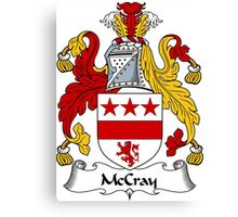 McCray Coat of Arms / McCray Family Crest Canvas Print