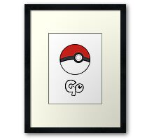 Pokemon Go - Go Framed Print
