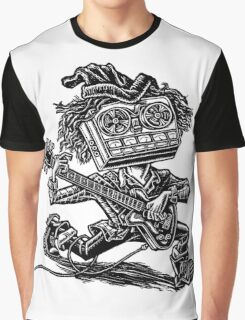 Eight Track Recorder Guitar Player Graphic T-Shirt