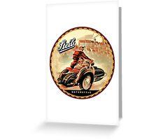 Steib Vintage Motorcycle sidecars Greeting Card