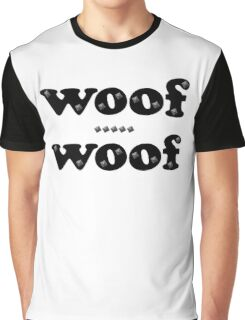 Woof Woof Leather and Studs Graphic T-Shirt