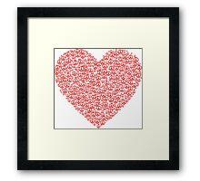Peace Heart Framed Print