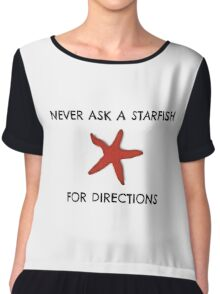 Starfish Funny Random Animal Joke Chiffon Top