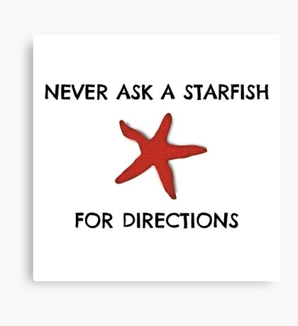 Starfish Funny Random Animal Joke Canvas Print