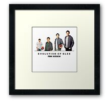 Evolution of Glee    Finn Hudson Framed Print