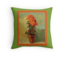 Summer marigold Throw Pillow