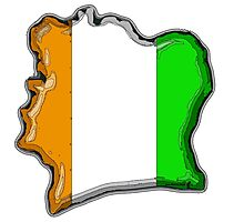 Cote d'Ivoire Ivory Coast Map With Flag Photographic Print