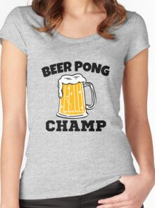 Funny Beer Pong Champ  Women's Fitted Scoop T-Shirt