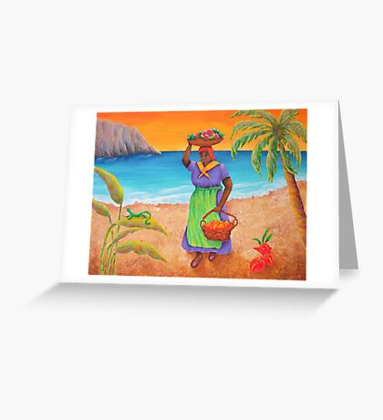 Tropical Harvest Greeting Card
