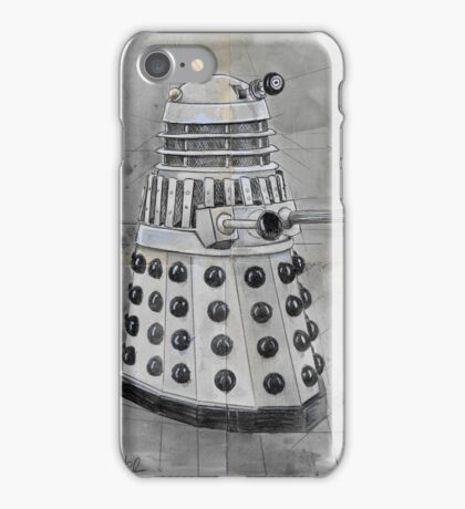 classic dalek study iPhone Case/Skin
