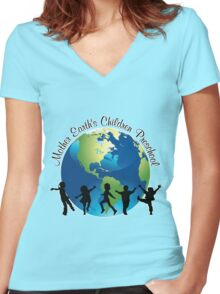 Mother Earth Children's Pre-School Women's Fitted V-Neck T-Shirt