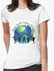 Mother Earth Children's Pre-School Womens Fitted T-Shirt