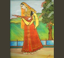 Ancient Indian Lady with Musical Instrument Unisex T-Shirt