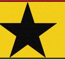 Ghana Map With Ghanian Flag Sticker