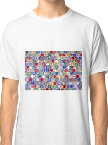 Bottle Caps seamless patterned background Classic T-Shirt