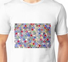 Bottle Caps seamless patterned background Unisex T-Shirt