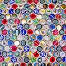 Bottle Caps seamless patterned background by Bruno Beach