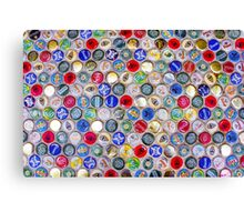Bottle Caps seamless patterned background Canvas Print