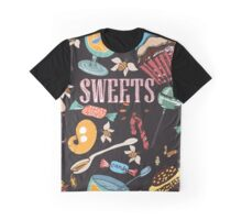 Hand drawn pattern. Sweets. Graphic T-Shirt