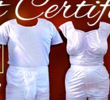 Mormon Underwear - Gift Certificate Sticker