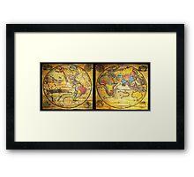 Antique Maps Framed Print