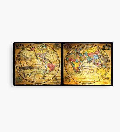 Antique Maps Canvas Print
