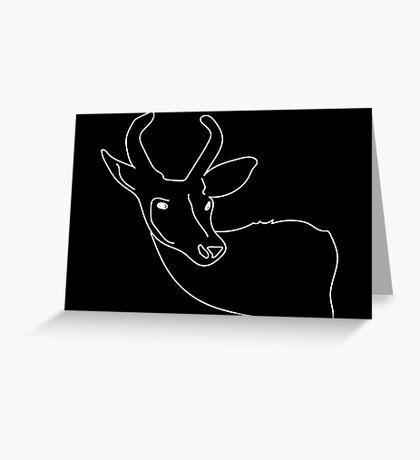 Deer.  Greeting Card