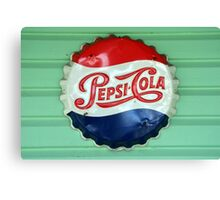 Pepsi Bottle Cap Canvas Print