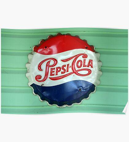 Pepsi Bottle Cap Poster