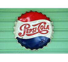 Pepsi Bottle Cap Photographic Print