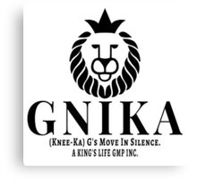 Gnika (knee-ka) aking Canvas Print