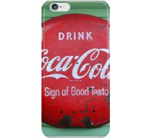 Vintage Coke sign iPhone Case/Skin