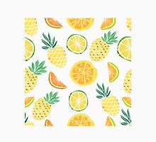 Fruits pattern with pine apple, palm leaves.  Unisex T-Shirt