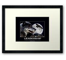 Leadership Grey Wolf and Raven Artwork Framed Print