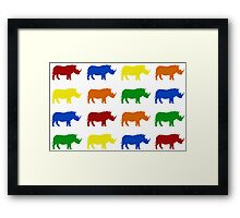 Save Our Rhino Framed Print