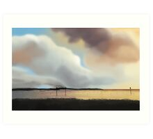 Painted Clouds Art Print