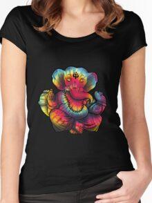 Tie-Dye Ganesha Women's Fitted Scoop T-Shirt